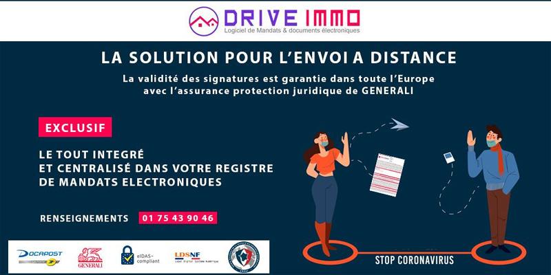 Connexion à DRIVE IMMO pour signer électroniquement les mandats et les documents immobiliers